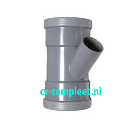 PVC manchet T Stuk 125 x 50 mm 45¡ 3 x mof