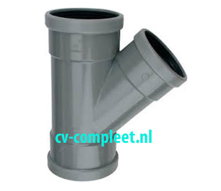 PVC manchet T Stuk 160 x 160 mm 45¡ 3 x mof