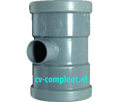 PVC manchet T Stuk 125 x 40 mm 90¡ 3 x mof