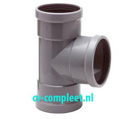 PVC manchet T Stuk 125 x 125 mm 90¡ 3 x mof