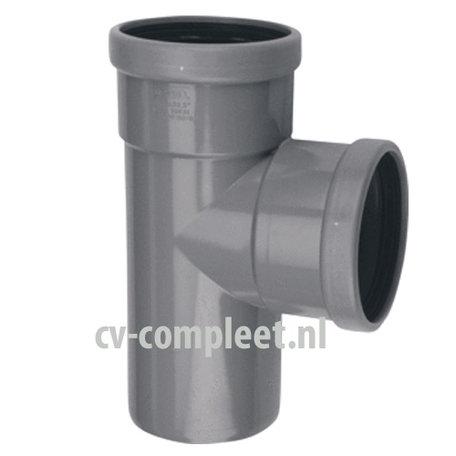 PVC manchet T Stuk 125 x 125 mm 90¡ 2 x mof/spie
