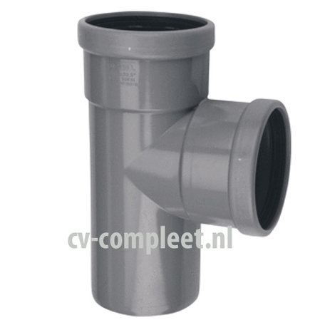 PVC manchet T Stuk 250 x 250 mm 90¡ 2 x mof/spie