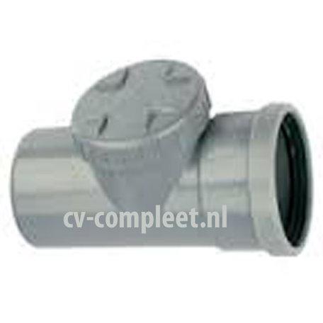 PVC Ontstoppingsstuk met schroefdeksel - manchet verbinding 110 mm 1 x mof/ spie
