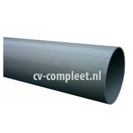 PVC Hemelwaterafvoerbuis grijs 80 mm lengte 5.55 meter