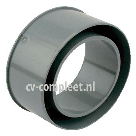 PVC Hemelwaterafvoer verloopring 125 x 100 mm (uitw x inw)