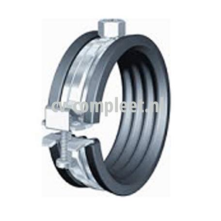 Stalen Beugel met rubber inlage M10  133 - 141 mm