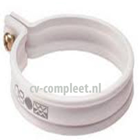 PVC Beugel 80 mm HWA Wit