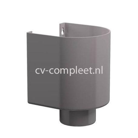 PVC Vergaarbak halfrond 80 mm (D) kleur grijs