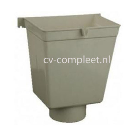 PVC Vergaarbak hoog 80 mm, kleur grijs