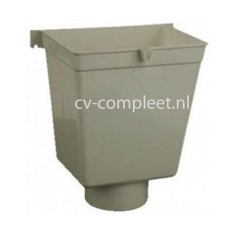 PVC Vergaarbak hoog 100 mm, kleur grijs
