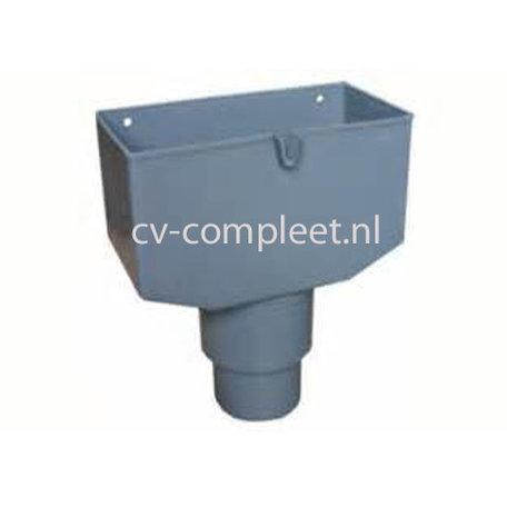PVC Vergaarbak laag 80/100 mm, kleur grijs