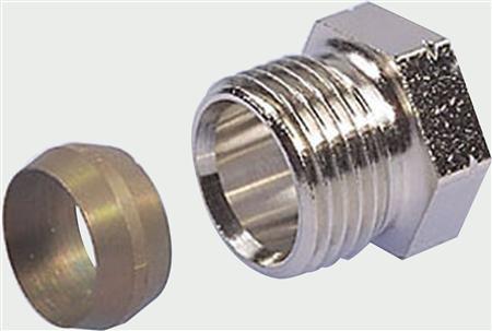 Honeywell knelset  15 mm voor radiatorkraan 1/2