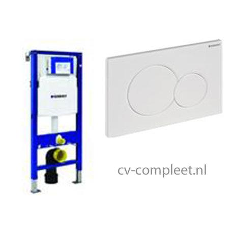 GEBERIT Duofix UP320 inbouwreservoir front bediening met bediningspaneel