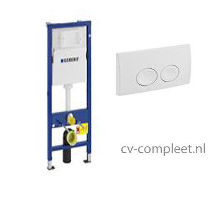 GEBERIT Duofix UP100 inbouwreservoir front bediening met bedieningspaneel
