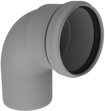 PP rookgasafvoer bocht 60 mm 90 graden voor HR ketels