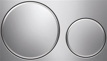 GEBERIT Sigma 20 bedieningspaneel twee knops kleur Glans/mat/glans
