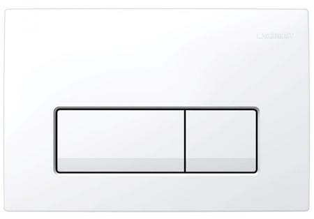 GEBERIT Delta 51 bedieningspaneel twee knops kleur wit