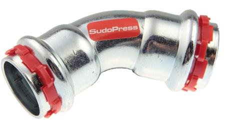 VSH Sudopress bocht koppeling 45¡ 15 x 15 mm staal (pers x pers)