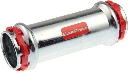 VSH Sudopress rechte koppeling OVERSCHUIF SOK 15 x 15 mm staal (pers x pers)
