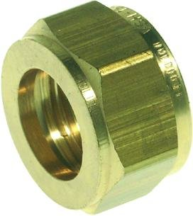 VSH Losse knel wartelmoer 12 mm messing