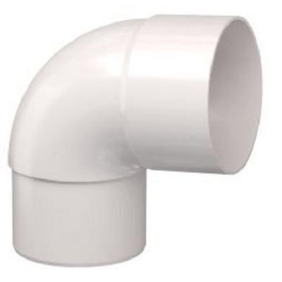 PVC Hemelwaterafvoer bocht 80 mm 90¡ WIT mof/spie verjongd (M/VS)