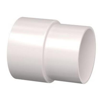 PVC Hemelwaterafvoer verbinding-mof 80 mm  Wit verjong (pas in de buis)