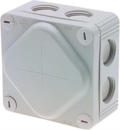 Kabeldoos 85 x 85 x 47 mm 8 x M20 IP66 - per 10 stuks