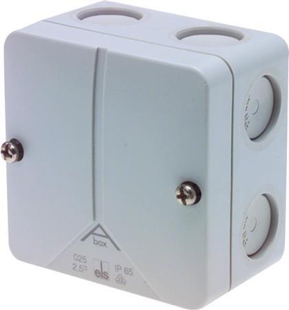 Kabeldoos 80 x 80 x 52 mm 7 x M20 IP65 - per 3 stuks