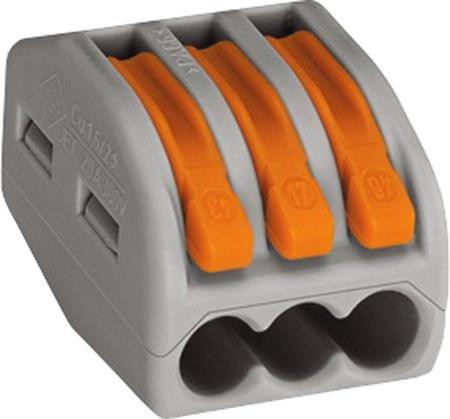WAGO verbindingsklem 3 voudig - universeel - doos á 50 stuks