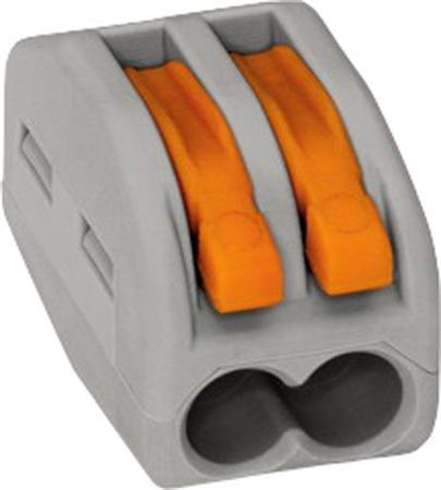 WAGO verbindingsklem 2 voudig - universeel - doos á 50 stuks