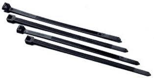 Montagebandjes zwart, lengte 160 x 4,6 mm, zakje á 100 stuks