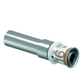 Uponor S-Press Plus overgang verlopen 16 mm x 15 mm buis CU, recht, perskoppeling