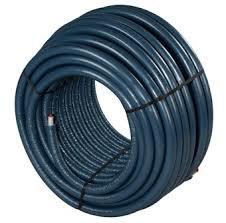 Uponor Uni pipe PLUS 25 x 2,5 mm in isolatie mantel 6 mm blauw 12 meter (restant stuk)