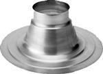 Aluminium plakplaat 133 mm voor HR dakdoorvoer