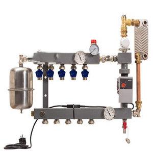 cv compleet CV Compleet model De Luxe vloerverwarming verdeler 2 groepen met